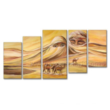 Modern Hanmade Oil Painting African Scenery on Canvas for Home Decor (AR-132)