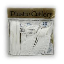Plastik Löffel Gabel Messer gemischt