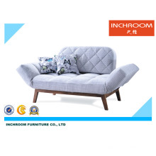 Sofá moderno de la tela plegable Mobiliario de la sala de estar