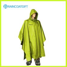 Poncho imperméable de pluie d'adulte de revêtement de polyester d'unité centrale (Rpy-048)