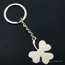 Promotion Silver Customer Logo Four Leaf Clover Key Chain (F1331)