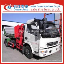 DFAC camión de basura hidráulica, camión de carga lateral para la venta