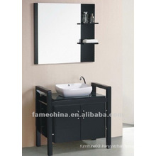 Wall Mounted Wood Vanity with Basin and Mirror
