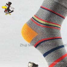 Calcetines de rayas personalizado popular hombre algodón