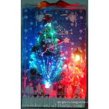 горячая распродажа Рождественские освещения оптоволоконная елка со звездой
