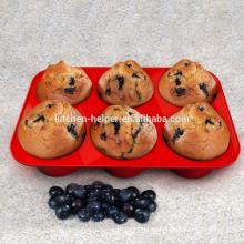 FDA LFGB Estándar de alta calidad de la fábrica de precio de alimentos de grado Cupcake Baking molde de silicona antiadherente Bakeware Cups Muffin Pan