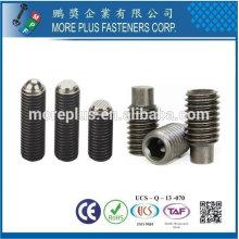Hecho en Taiwán Cobre de acero inoxidable Slotted Set tornillo con punto de perro DIN915