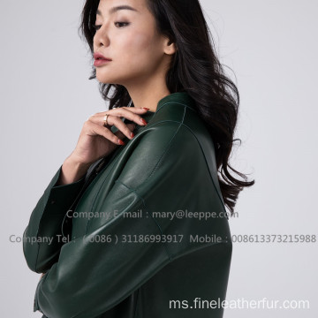 Paten Kulit Long Coat For Lady