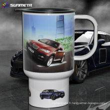 Tasse de sublimation de Sunmeta Tasses de voyage Tasses de voiture