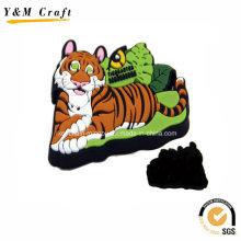 Kundengebundener Tier geformter weicher PVC-Eiskasten-Magneten Ym1074