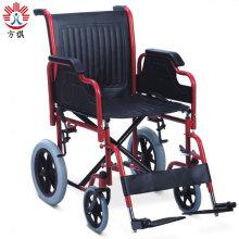 Fournitures de soins de santé fauteuil roulant en acier pour personnes âgées handicapées