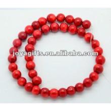 10MM Red Coral Contas Redondas
