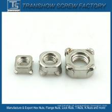 Porcas de solda de aço inoxidável M4-M16 DIN928 Ss304