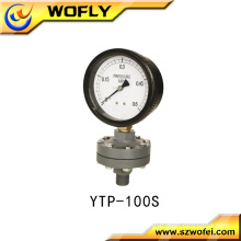 China manufacture gas pressure glycerin filled pressure gauge