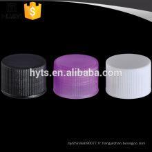 20/410 Chine fabricants personnalisé fil vis en plastique couvercle de la bouteille