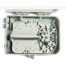 Outdoor wall-mounted 8/12 cores fiber optic cable distribution box ,plastic distribution box, optic distribution terminal box