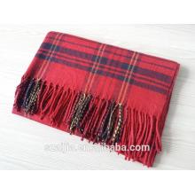 Мода дамы зимой теплый плед длинный шарф платок
