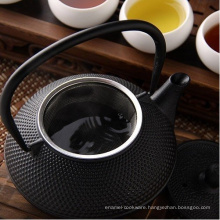 Enameled Cast Iron Teapot with Infuser Filter