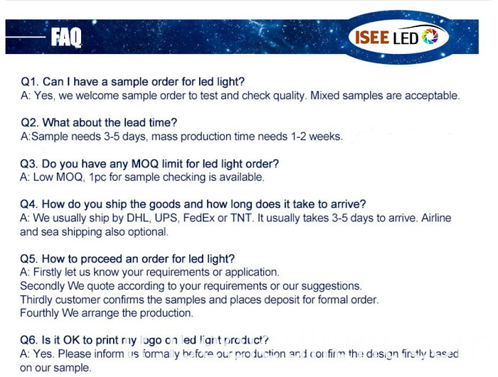 LED Light FAQ