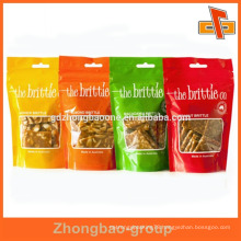 Wholesale food packaging foil ziplock bag with logo print