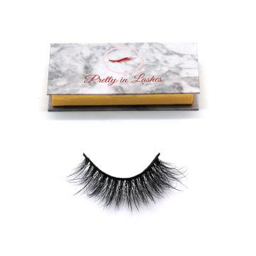 605 Hitomi eyelash vendor customized boxes Luxury 3d Mink Lashes paper eyelash packaging 3d real mink eyelash