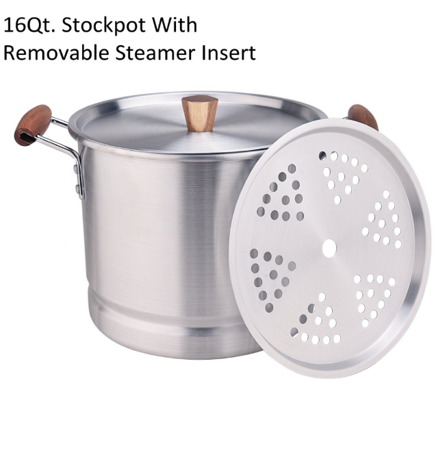 16qt Stockpot With Removable Steamer Insert