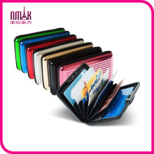 Unisex Colorful Aluma Aluminum Case Wallet Credit Card Holder Protect RFID Scanning