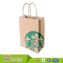 Muestra libre al por mayor de encargo de marca calificado al por menor de compras bolsa de papel Kraft con impresión del logotipo envío gratis