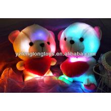 China factory LED toy plush Bear toys stuffed LED light toy