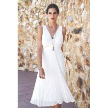 2016 Art und Weise Chiffon- gefaltete Abend-Kleid-Frauen-Art- und Weisekleidung