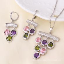 Xuping más nuevo rodio plateado conjunto de joyas de lujo