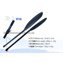 360 mm desde el hombro de la cuchilla al fondo de la cuchilla Bote de canoa con fibra de carbono Paletas