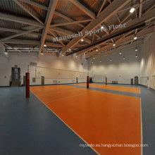 Suelo deportivo de interior de PVC de voleibol