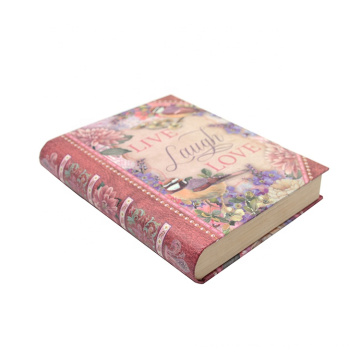 Custom Magnetic Personalized Decorative Display Comic Cardboard Book Shaped Storage box with notebook
