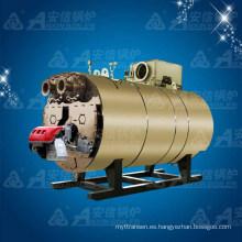 Caldera de agua caliente del cojinete de condensación horizontal del gas (WNS2.1)