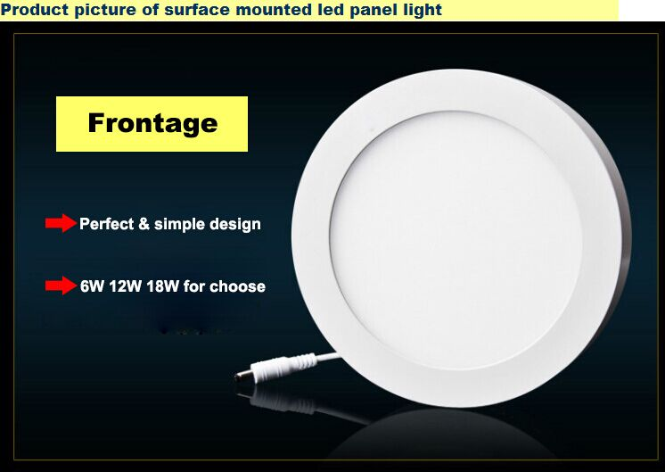 Surface mounted led Round panel light