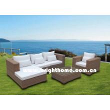 Halb runde PE Rattan Sofa Set Outdoor Möbel Bp-M12