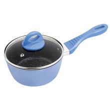 Kitchenware 16cm Aluminum Marble Coating Milk Pot Pan Cookware
