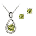 925 Silver Rings and Pendants Jewelry Set with CZ