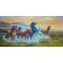 Handgemachtes Pferd Ölgemälde auf Leinwand