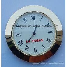 Custom 65mm Small Clock Inserts Gold Tone Silver Round