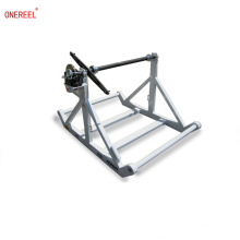HEAVY DUTY Cable Reel Stands with Tensioning Brakes