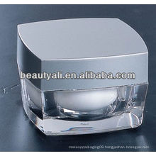 Square acrylic PMMA cosmetic containers