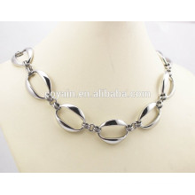 Stainless steel Big silver long link chain necklaces for women