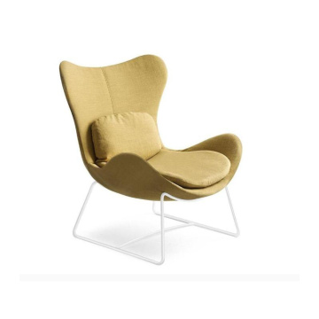 Calligaris Lazy Sled Base Armchair in stof