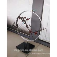 Moderne große berühmte Kunst Abstract Kupfer Vogel und Baum Skulptur für Indoor-oder Outdoor-Dekoration