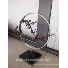 Modern Large Famous Arts Abstract copper Bird and Tree Sculpture for Indoor or Outdoor decoration