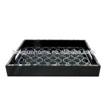 CBM-BPTY Black MOP Hotel Amenity Tray with Paua Paper Black Paint