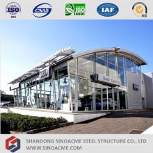 Tienda de venta de auto prefabricada de estructura de acero