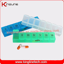 Any Color Plastic Pill Box with 7-Cases (KL-9006)